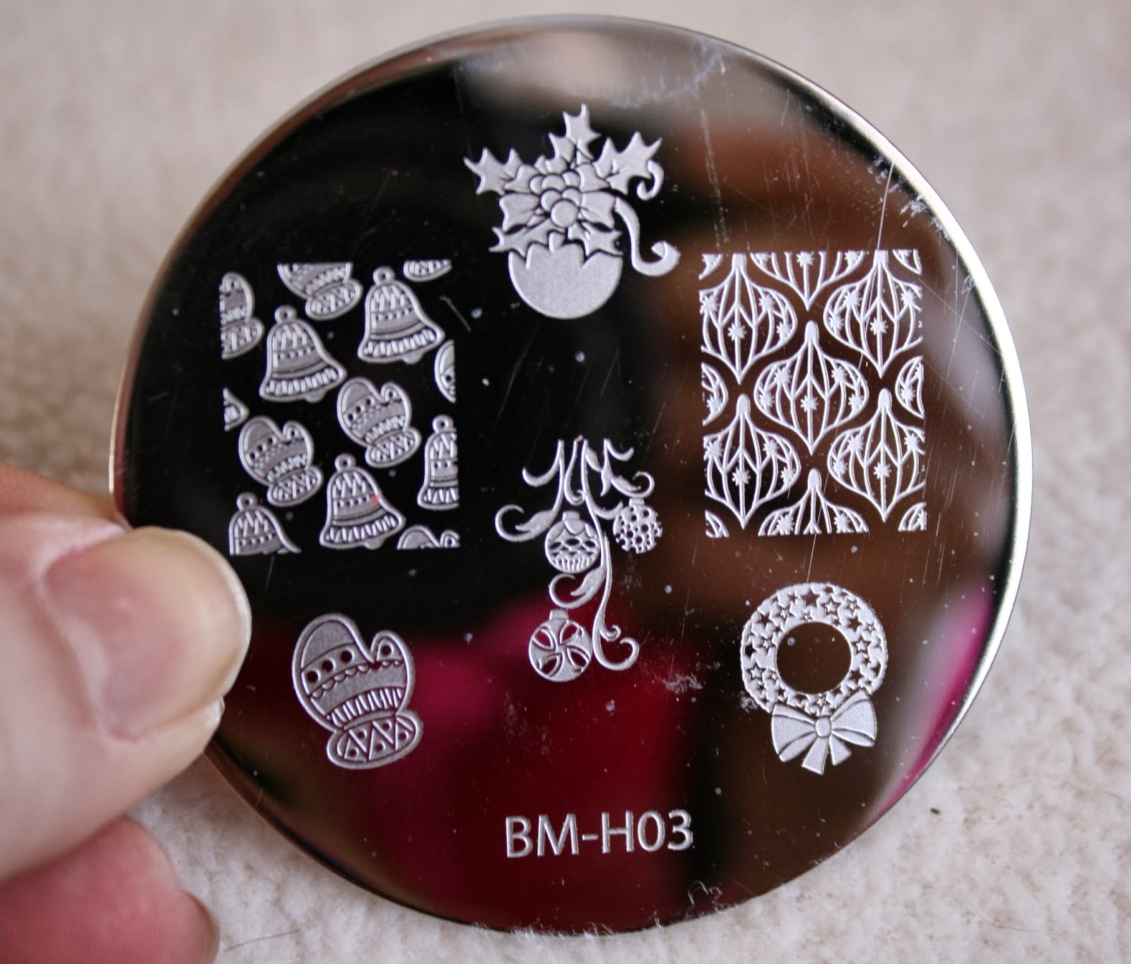 bundle monster nail stamping plates set collection holiday 2013 nails art stamp konad bm-h03