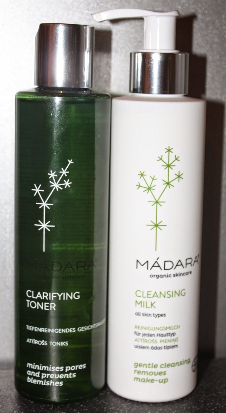 Madara Clarifying Toner and Madara Cleansing Milk