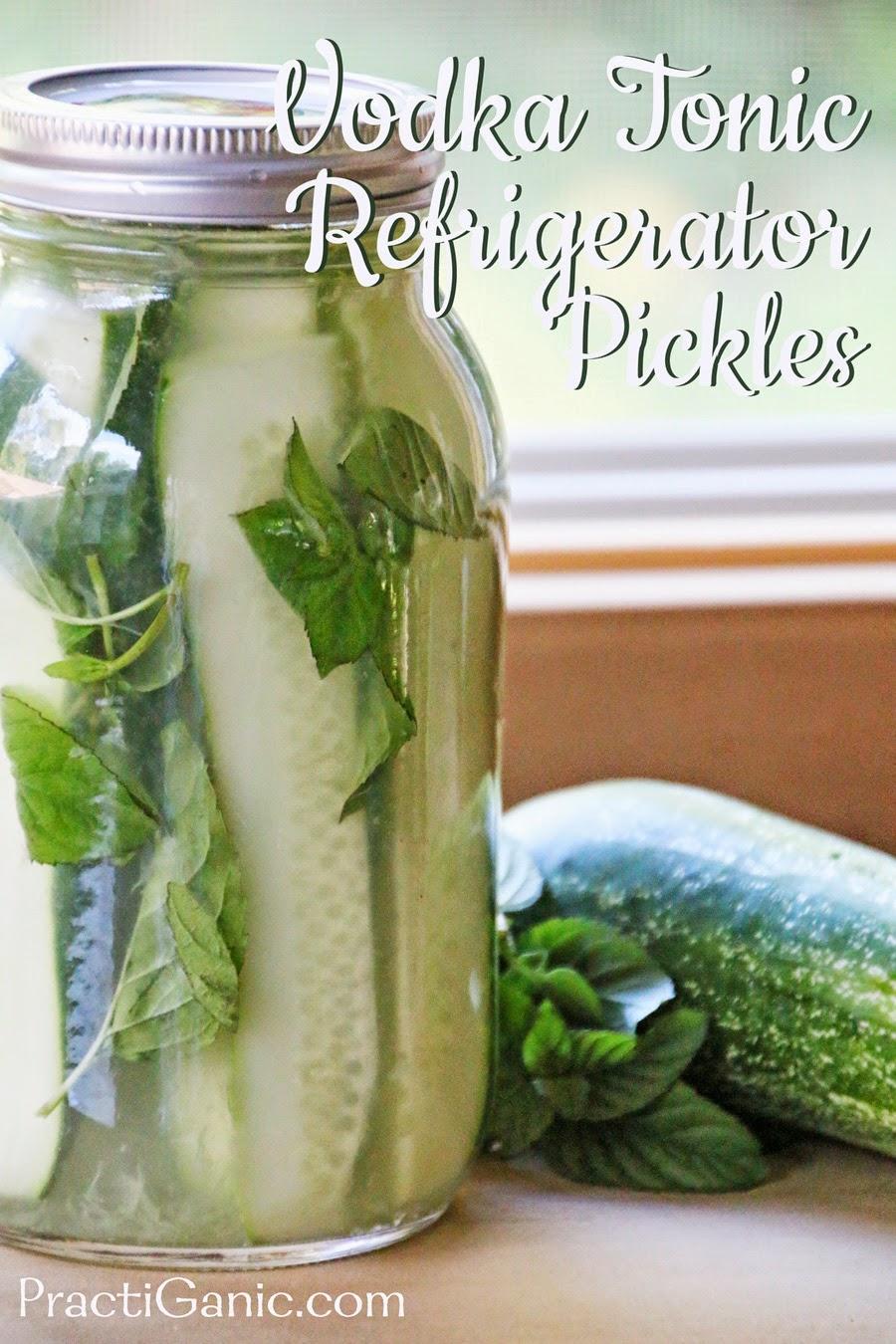 Vodka Tonic Refrigerator Pickles