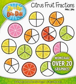http://www.teacherspayteachers.com/Product/Bright-Citrus-Fruit-Fractions-Clipart-Over-20-Graphics-521880