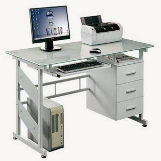 Ice Glass Computer Desk | Glass Computer Desks