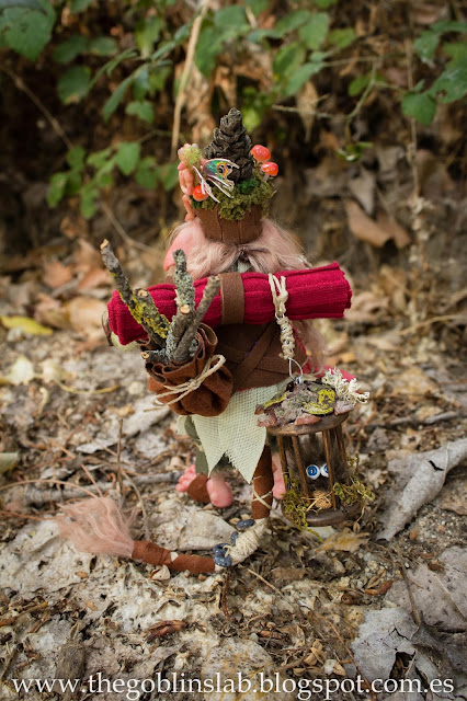 Ooak fantasy goblin magical creature Elda Moonsteps