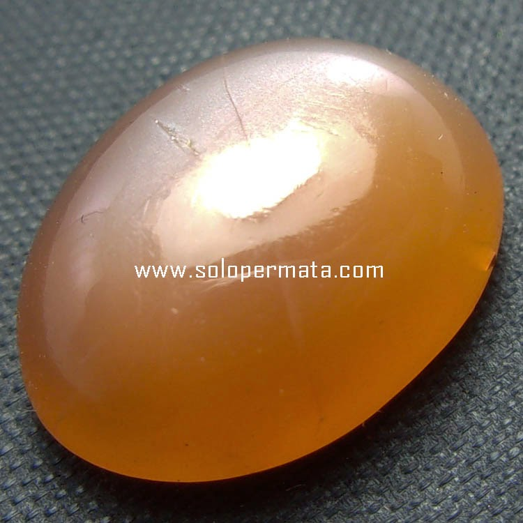 Batu Permata Moonstone Selenite Orange