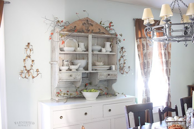 Tarnished Royalty- Farmhouse Dining Room-Buffet-Treasure Hunt Thursday- From My Front Porch To Yours