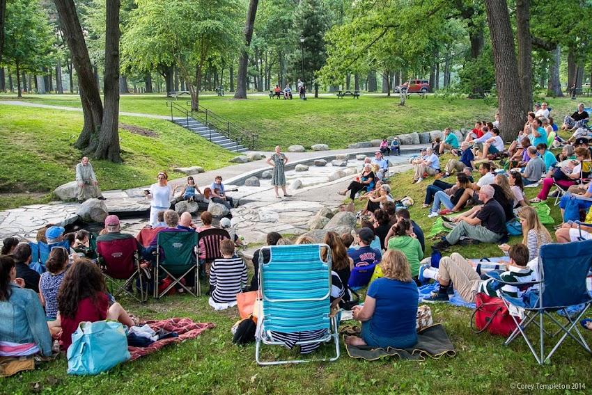 Shakespeare in the Park Deering Oaks Portland, Maine Summer 2014 July photo by Corey Templeton