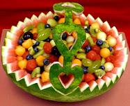 Decorarea legumelor si fructelor
