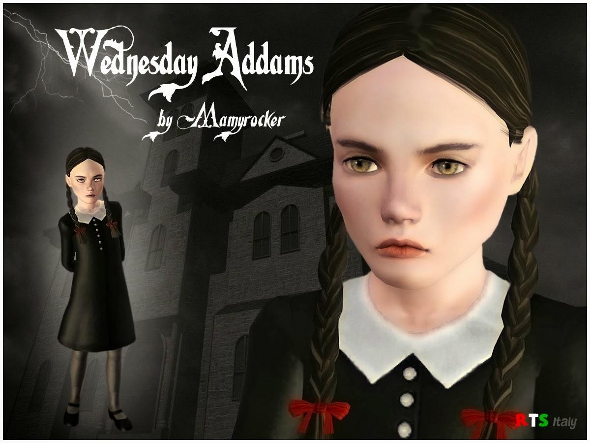 Wednesday Addams - Sim and Dress by MamyRocker  sc 1 st  My Sims 3 Blog & My Sims 3 Blog: Wednesday Addams - Sim and Dress by MamyRocker