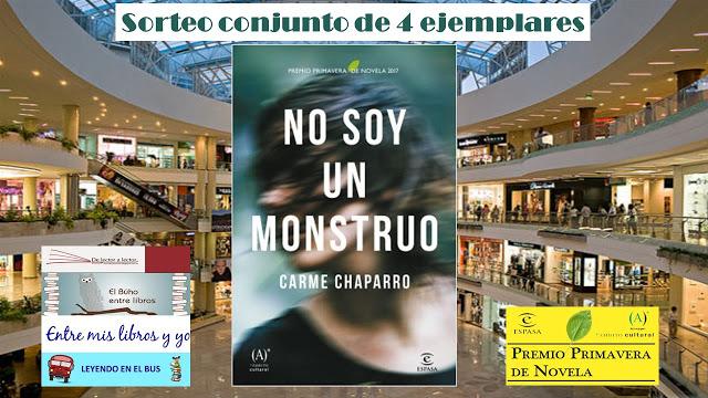SORTEO CONJUNTO NO SOY UN MONSTRUO - Carme Chaparro