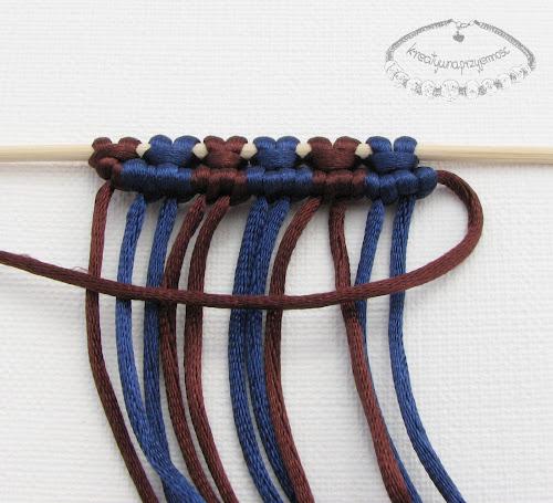 węzeł rypsowy - makrama - 14
