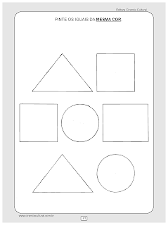 atividades matematica cores