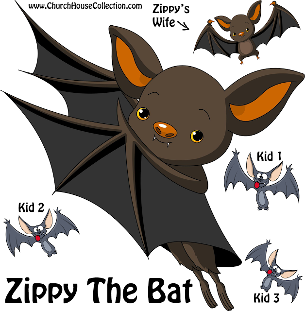 "Mr, Kitty And Zippy The Bat© by Church House Collection ""Mr. Kitty Who Loves To Give"""