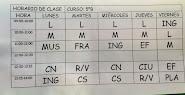 HORARIO DE CLASES 5ºB