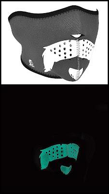 Glowing in the Dark Mo Scruffy Neoprene Half Face Mask