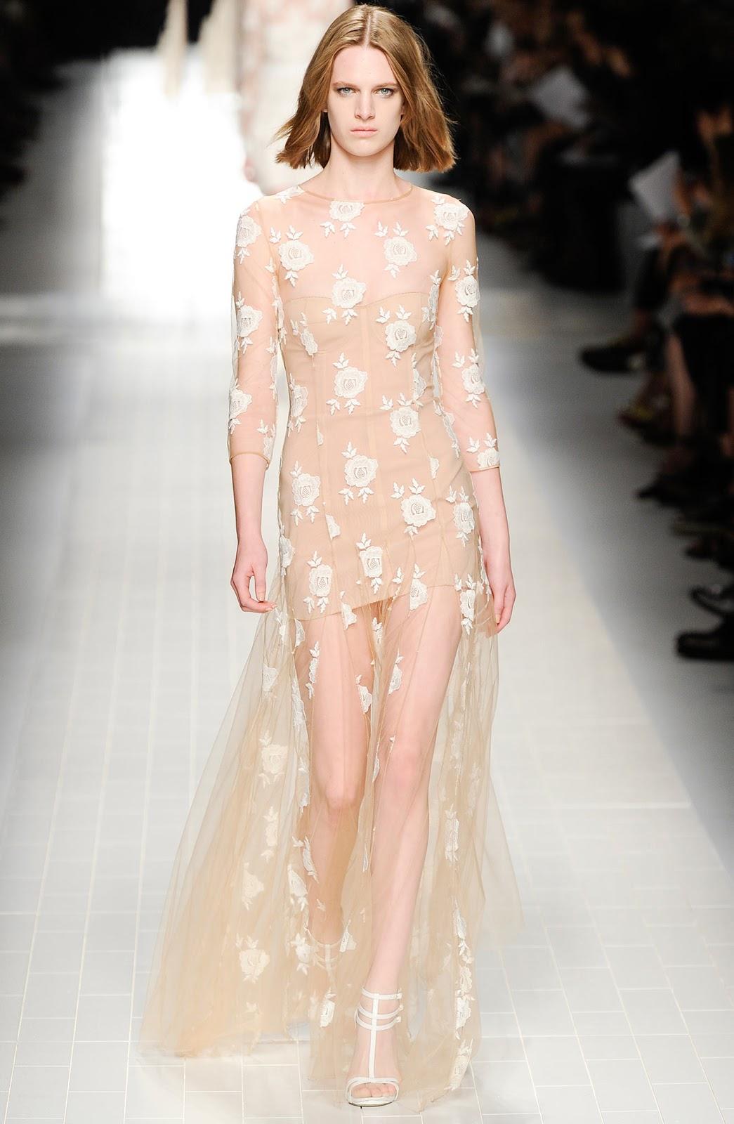 Blumarine lace dress | Spring/Summer 2014 | via fashioned by love british fashion blog