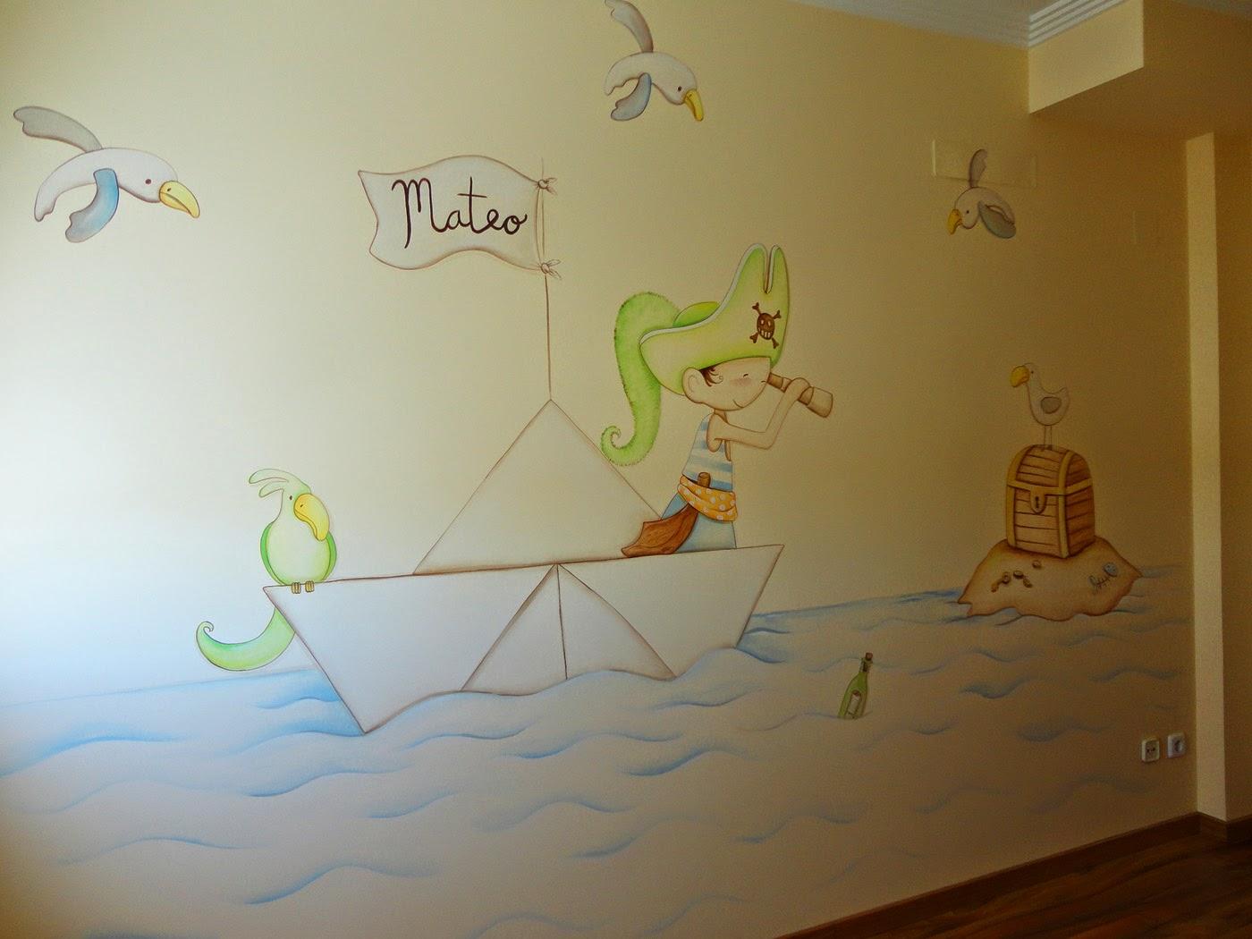 Decopared murales infantiles de piratas para los peques - Pintura habitaciones infantiles ...