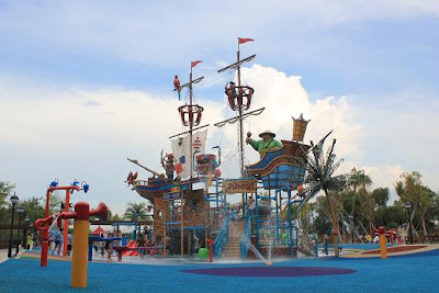 the pirate ship water fun at the port of lost wonder is finally open