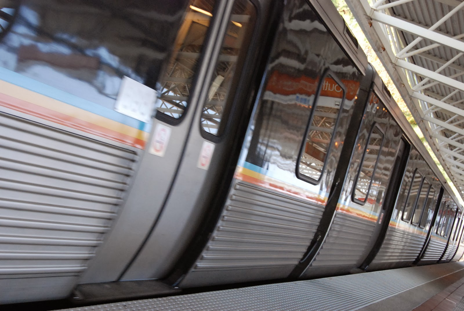Photograph of a Marta Train. Photo by Josh Hellett.
