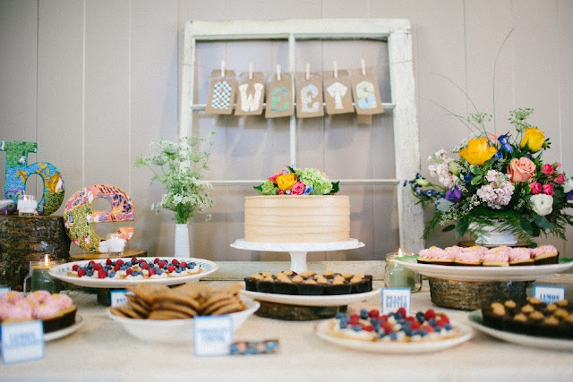 Rustic Mini Dessert Table in MN Barn