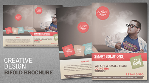 Design a Creative Bi Fold Brochure In Photoshop Part 1