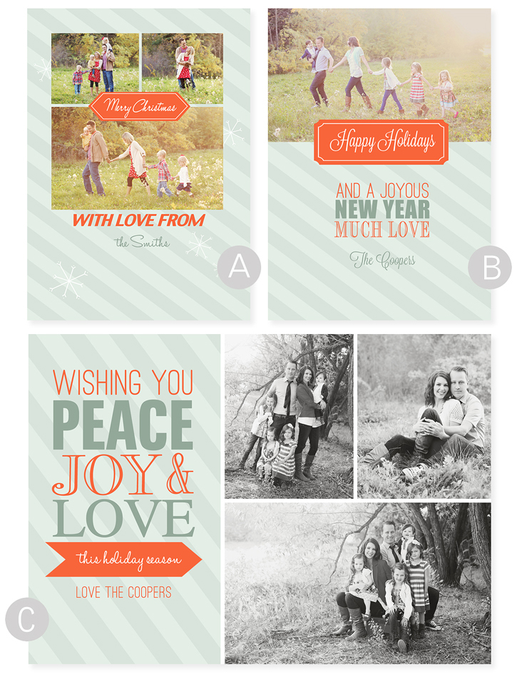 free holiday photo card templates