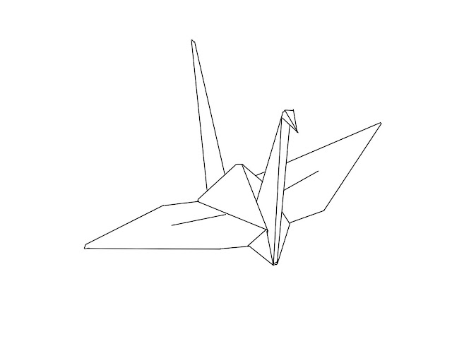 How to fold a paper peace crane