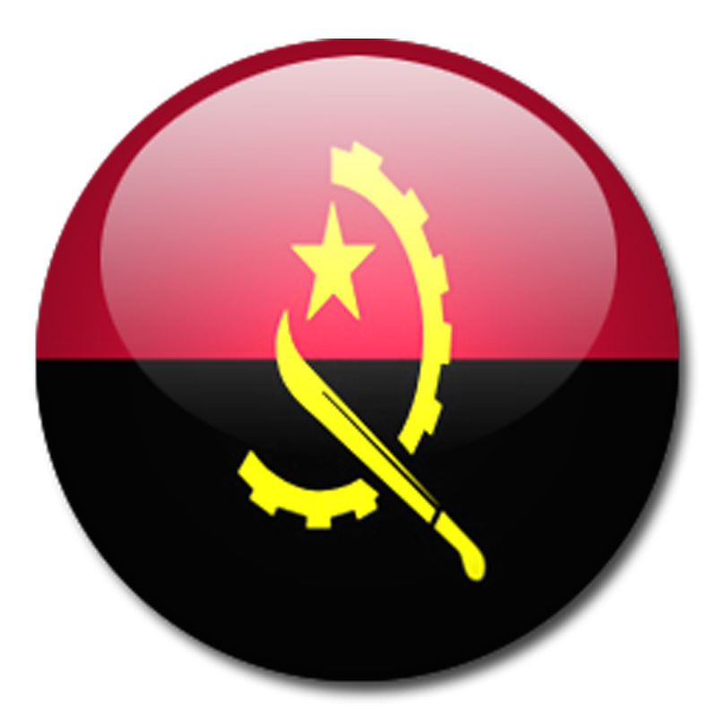 Angola Flag crystall g...