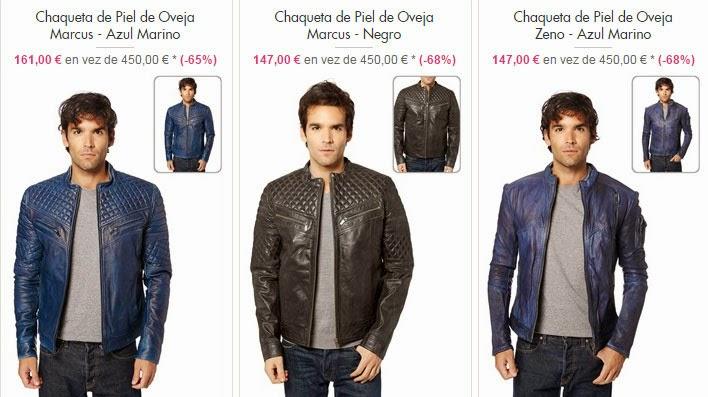 Ejemplos de chaquetas de piel para hombre en oferta