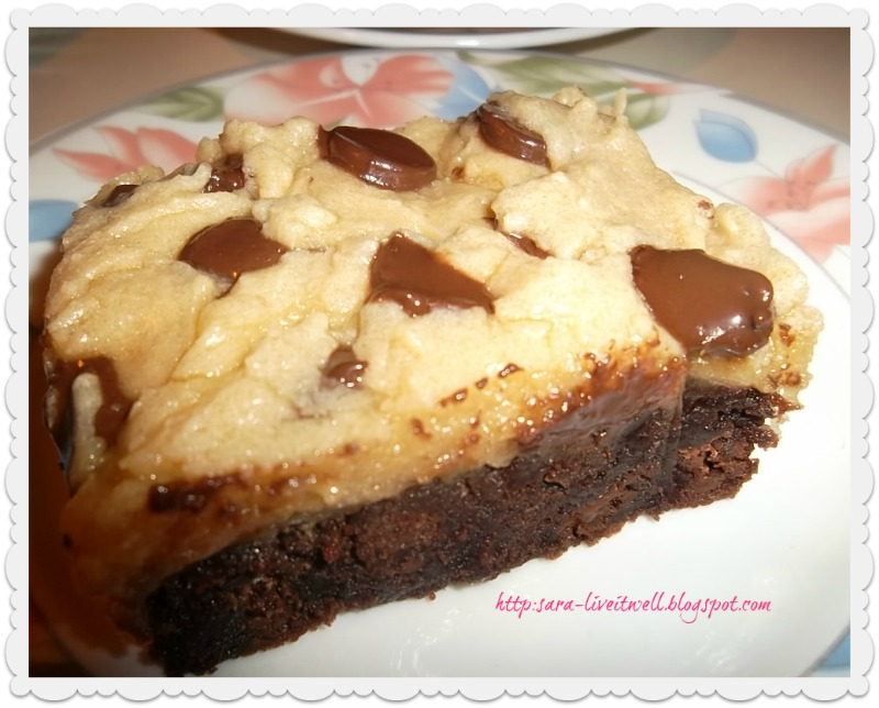 Live it well: Chocolate Chip Cookie Dough Brownies