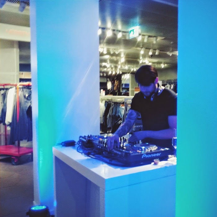 DJ at the InStyle and H&M Pre-Shopping party in Hamburg
