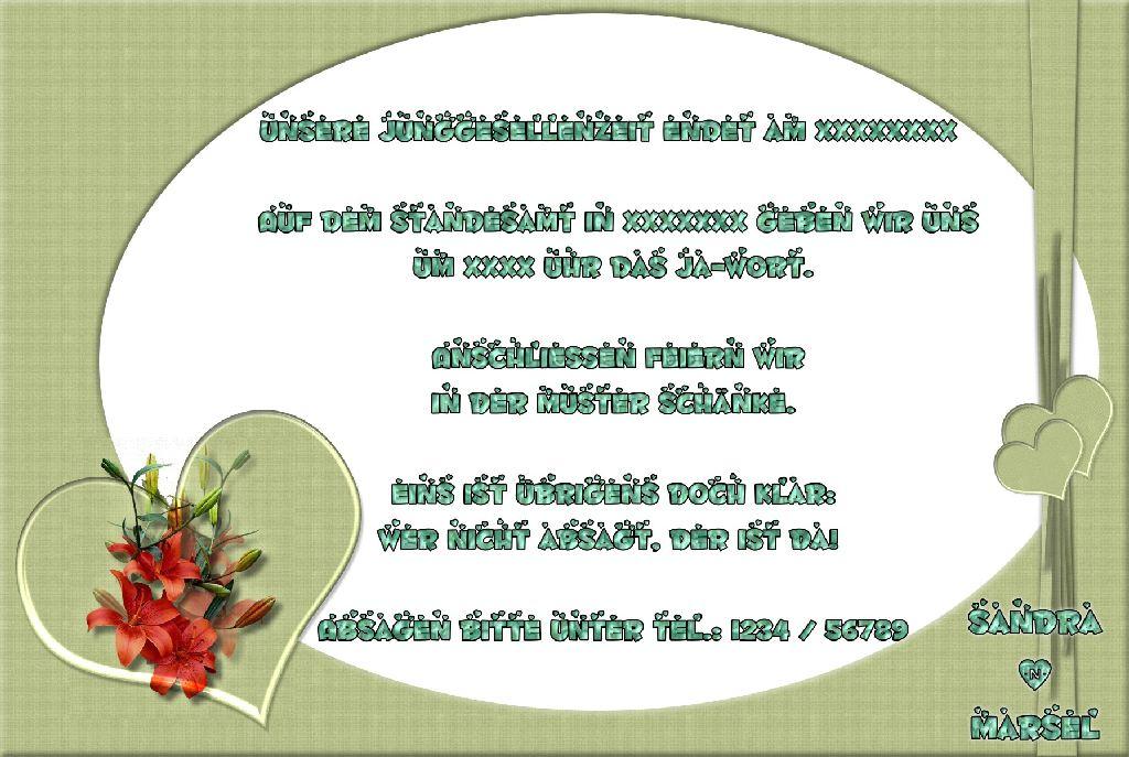 Hochzeit: Hochzeit Einladung