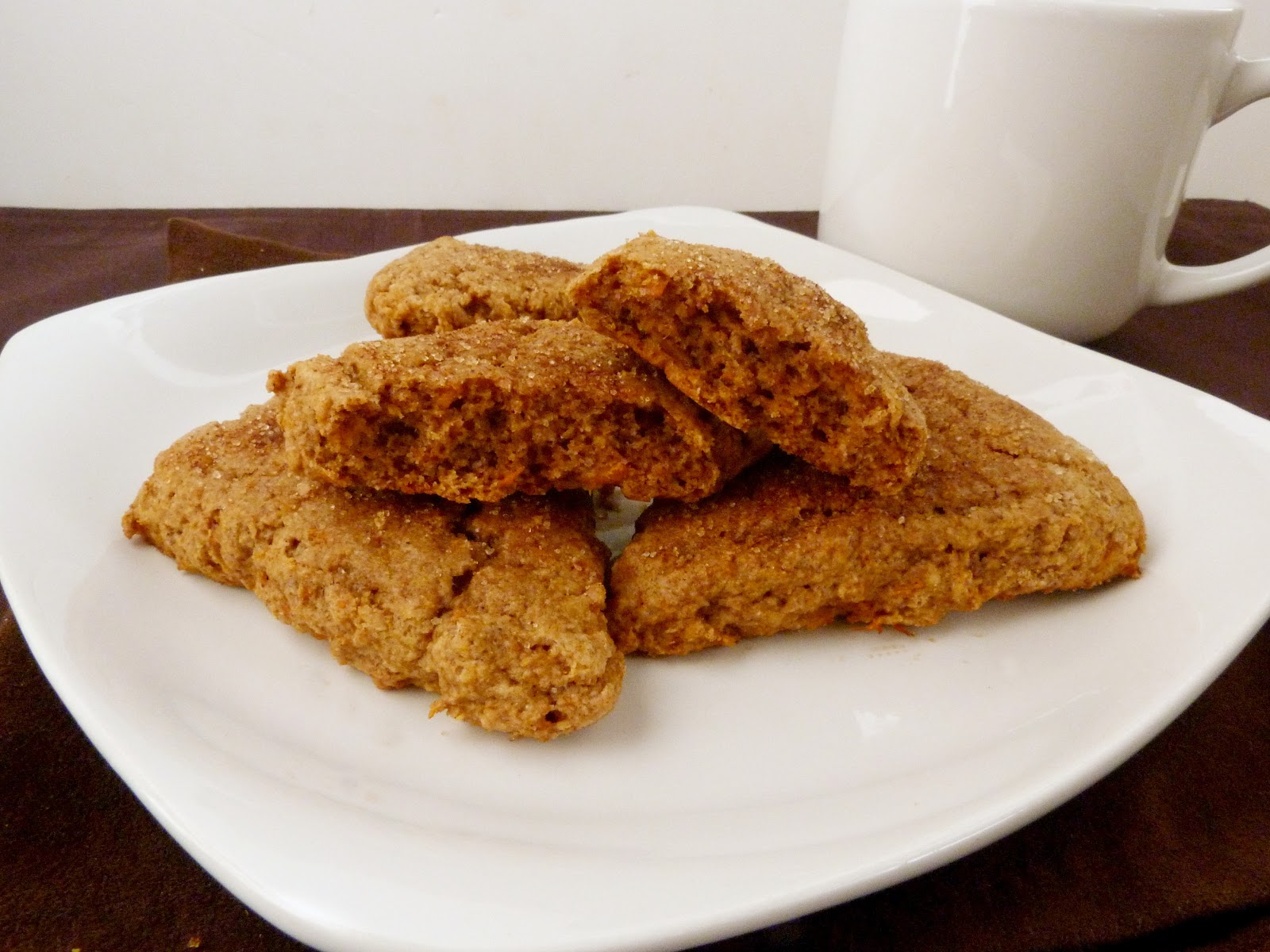 changes to turn them into spiced sweet potato scones instead