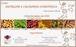 Curso de Nutriçâo e Culinária Ayurvédica