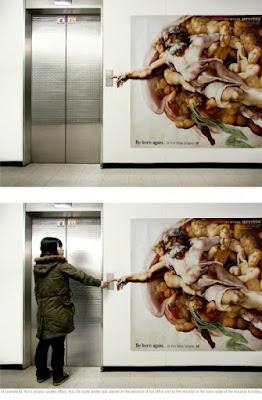 Publicidad Creativa, ascensores, Clínica de Belleza