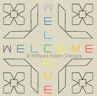 5 Welcome kolam Dots 14 x 14
