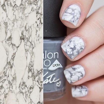 Marble effect nail art by The Nailasaurus