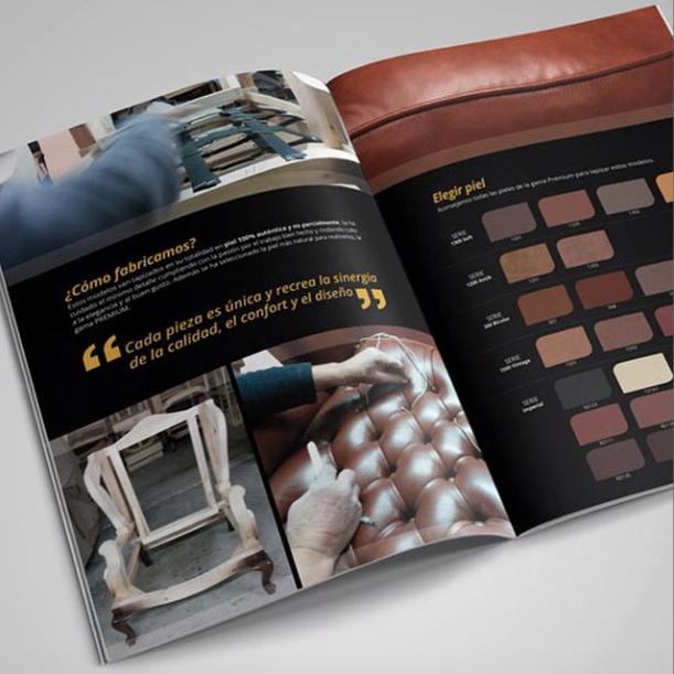 diseño de catálogos sofas barcelona