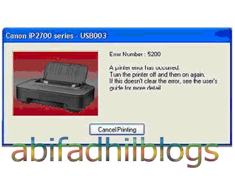 Reset Manual Printer Canon iP2770 error 5200 ~ abifadhilblogs