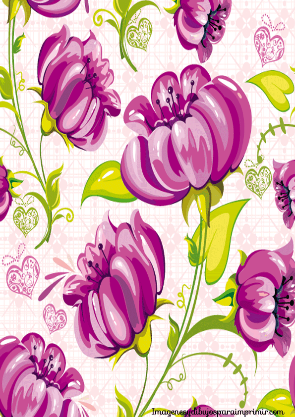 Papel de flores para imprimir