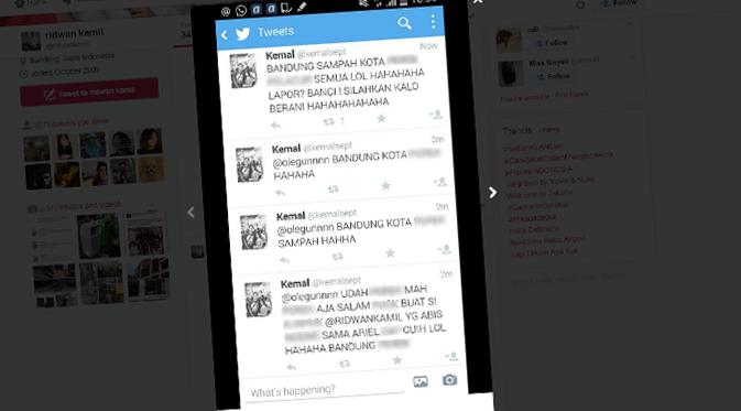 Menghina Kota Bandung, Ridwan Kamil Siap Pidanakan @kemalsept