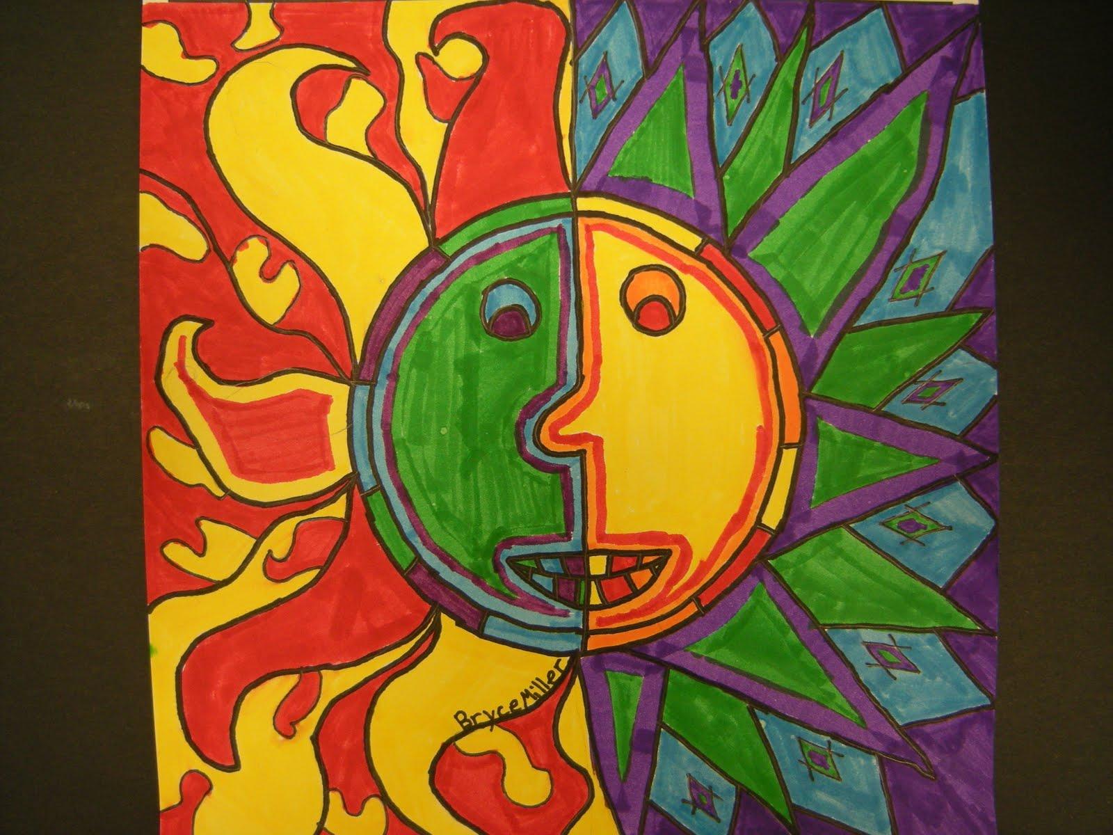 Aztec Calendar Art Lesson : Artolazzi square one