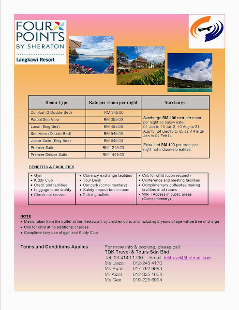 FOUR POINTS BY SHERATON LANGKAWI till 31 Mar 2014