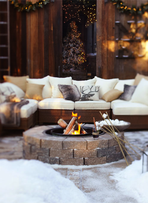 Winter Backyard Party Ideas : Party Resources Rustic Country Christmas