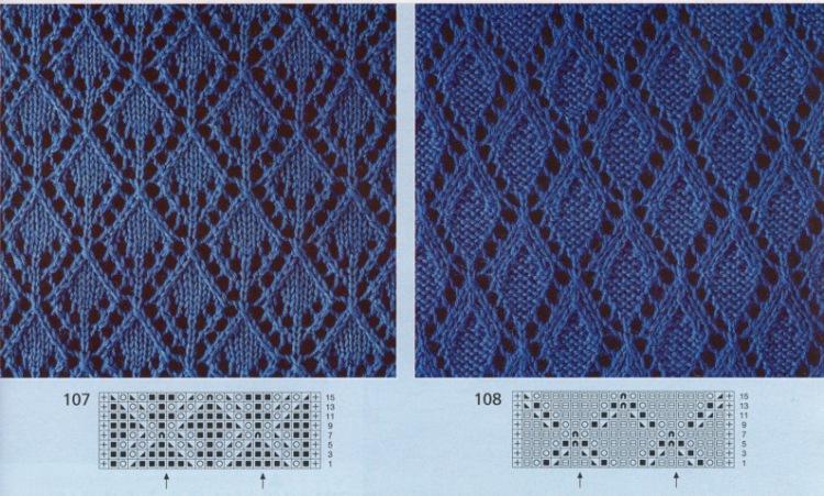 Вязание ажурного узора большими спицами
