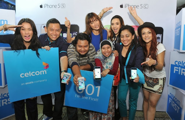 Celcom First, Celcom, iPhone 5s, iPhone 5c, Celcom Blue Cube, Sunway Pyramid, the cube