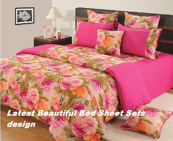 Bed sheet with cotton bed sheets design latest beautiful for Bed sheet design images