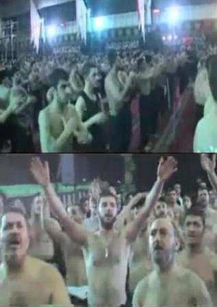 Betapa Mengerikannya Agama Ini   Para pengikut Syiah sedang berdoa agar Imam Mahdi segera datang untuk membunuh NAWASIB (Sunni) di Syria, dimulai dari desa mereka sendiri yaitu Harasta. Mereka berdoa sambil tepuk-tepuk dada. Inilah terjemahan doa mereka:  - Kami mempunyai dendam kita perlu mengambilnya. Imam kami memanggil dimanakah anda? 2X - Ya Zahra'a Ya Zahra'a. - Dari Dara'a (Syria) datang kejahatan (revolusi Syria). - Musuh Mahdi datang. 2X - Dari Harasta, kami menunggu tanda kami. 2X [Menurut Syiah, Imam Mahdi akan memulai membunuh Sunni dari Harasta] - Hari ini Zainab dalam bahaya. Dia memanggil bantuan kami. 2X [makam Zainab di Damsyik] - Dan dengan kiamat Ruqayah akan bermula. 2X [Menurut Syiah, pada hari kiamat semua Sunni akan dibunuh oleh Imam Mahdi] - Esok tentera Mahdi akan memuji-muji YA HAIDAR. Hey 2X - Dia akan mengumpulkan mereka semua dan meletakkan mereka dalam satu kawasan (Sunni). - Walaupun mereka berkeinginan dan membenci, beliau akan membunuh mereka. Hey 2X - KAMI adalah Tentara Zaharaa dan hak-hak kami dari Syria akan kembali kepada kami. - Kami akan memotong hidung mereka dan memijaknya. - Ya Zaharaa, Ya Zaharaa. - Nama anda adalah suci dan imam sedang memanggil anda. - Ya Zahra'a, Ya Zahra'a….hanya Zahra'a. - Pukul diri anda, buatlah lingkaran.  Tontonlah videonya untuk lebih memahami Syiah:http://www.youtube.com/watch?v=jlmps-XqOJg  sumber:https://www.facebook.com/photo.php?fbid=535056823207483&set=a.273948169318351.75335.229405003772668&type=1