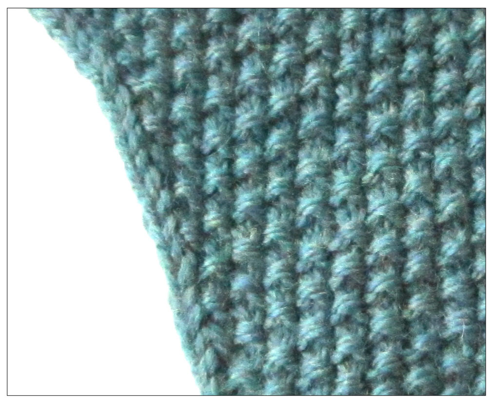 Knitting Increase Stitches : Techknitting increasing in seed stitch and decreasing