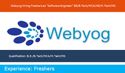 "Webyog Hiring Freshers as ""Software Engineer"""