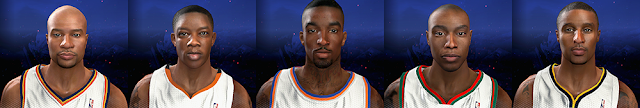 NBA 2K14 5 Players Cyberface Mod Pack