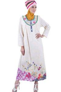 Najya Gamis LT10 - Krem (Toko Jilbab dan Busana Muslimah Terbaru)